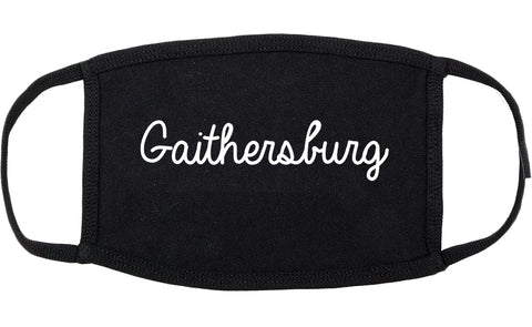 Gaithersburg Maryland MD Script Cotton Face Mask Black