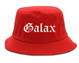 Galax Virginia VA Old English Mens Bucket Hat Red