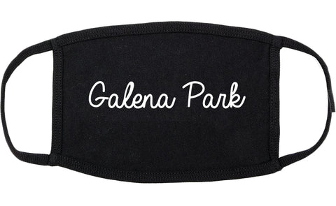 Galena Park Texas TX Script Cotton Face Mask Black