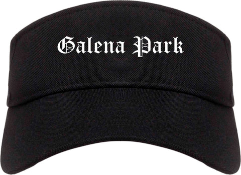 Galena Park Texas TX Old English Mens Visor Cap Hat Black