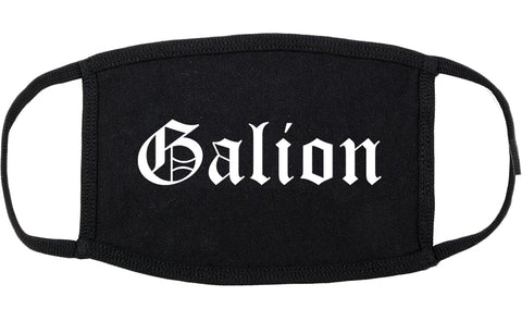 Galion Ohio OH Old English Cotton Face Mask Black