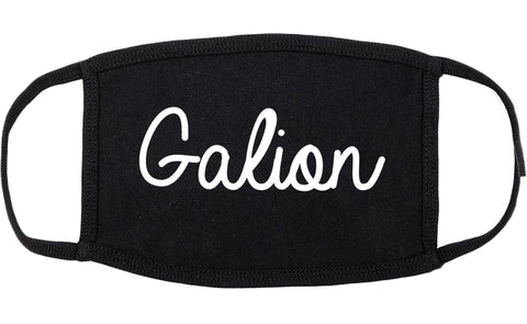 Galion Ohio OH Script Cotton Face Mask Black