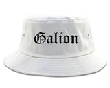 Galion Ohio OH Old English Mens Bucket Hat White