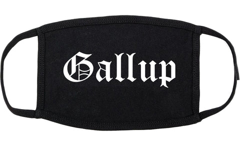Gallup New Mexico NM Old English Cotton Face Mask Black