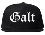 Galt California CA Old English Mens Snapback Hat Black