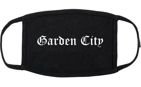Garden City Idaho ID Old English Cotton Face Mask Black