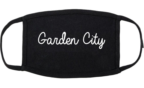 Garden City Idaho ID Script Cotton Face Mask Black