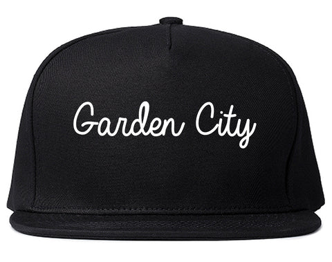 Garden City Idaho ID Script Mens Snapback Hat Black