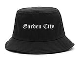 Garden City Michigan MI Old English Mens Bucket Hat Black