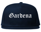 Gardena California CA Old English Mens Snapback Hat Navy Blue