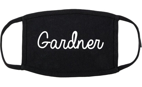 Gardner Kansas KS Script Cotton Face Mask Black