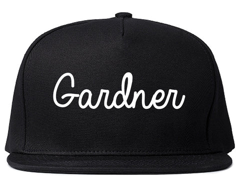Gardner Kansas KS Script Mens Snapback Hat Black