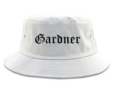 Gardner Kansas KS Old English Mens Bucket Hat White