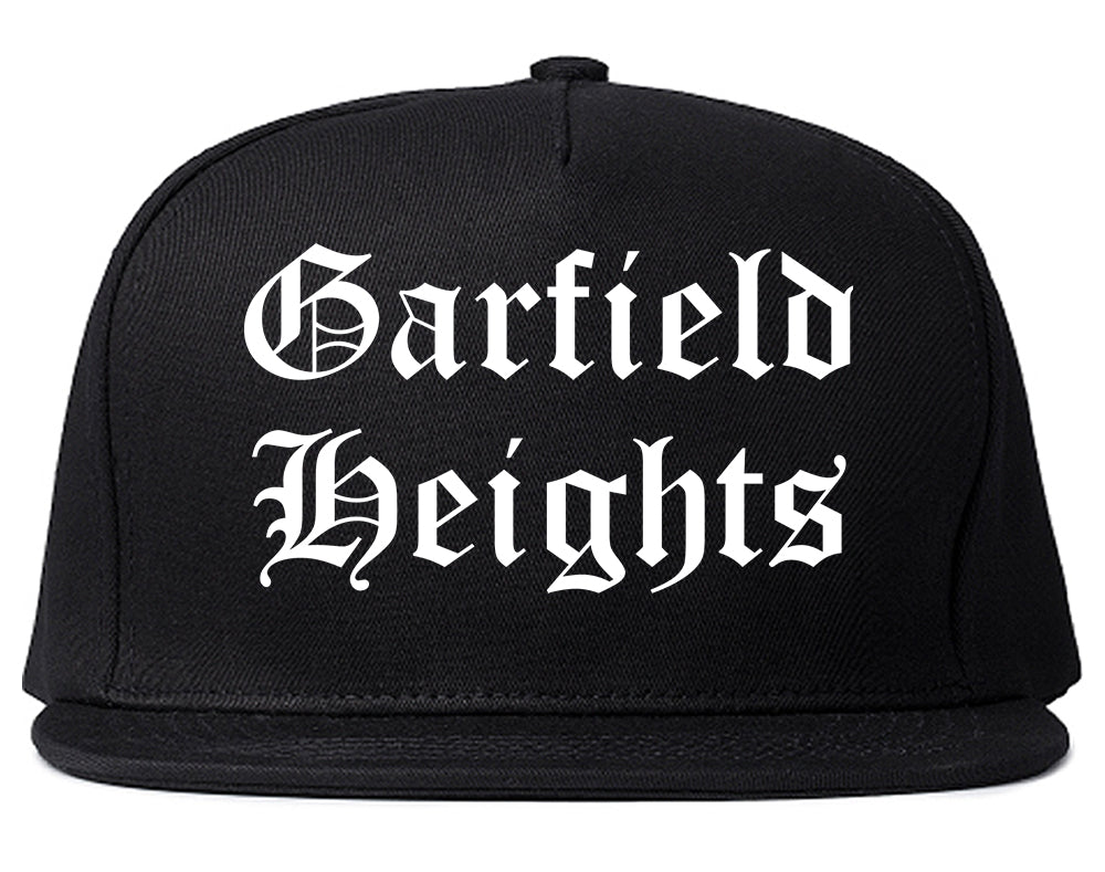 Garfield Heights Ohio OH Old English Mens Snapback Hat Black