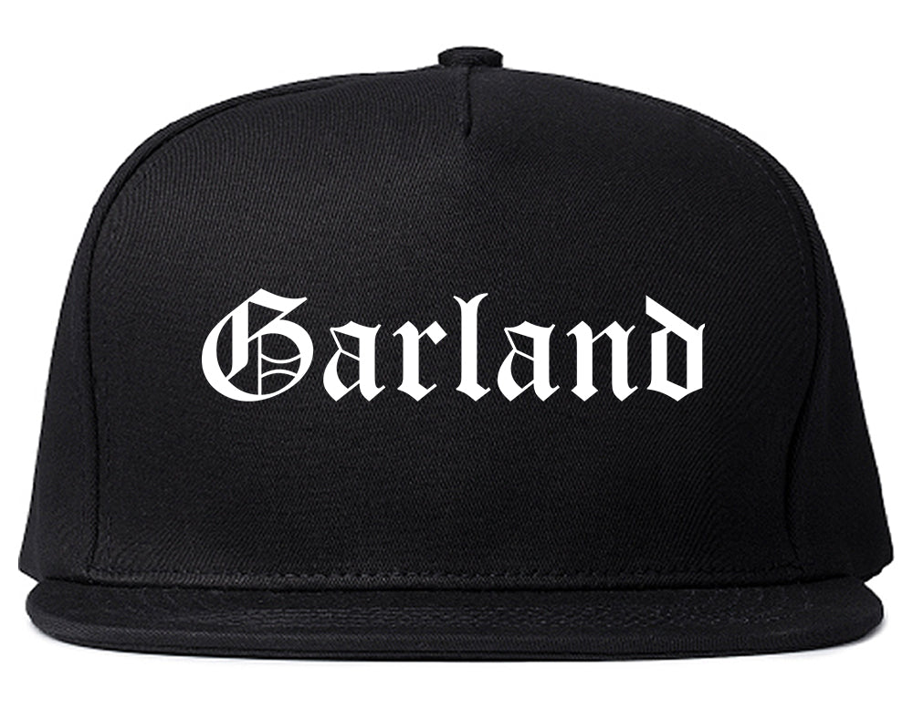 Garland Texas TX Old English Mens Snapback Hat Black