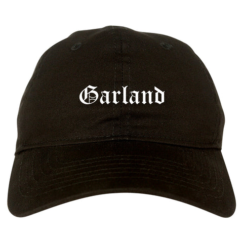 Garland Texas TX Old English Mens Dad Hat Baseball Cap Black