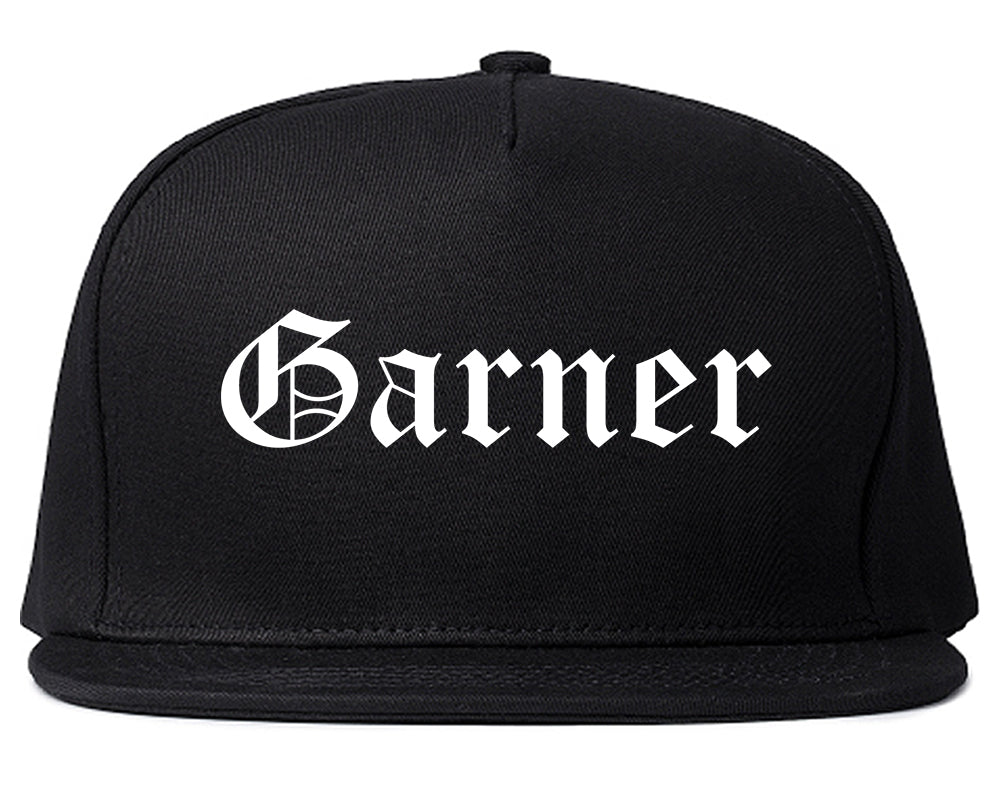 Garner North Carolina NC Old English Mens Snapback Hat Black