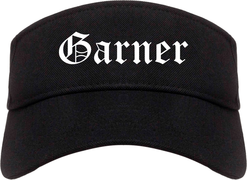 Garner North Carolina NC Old English Mens Visor Cap Hat Black
