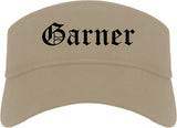 Garner North Carolina NC Old English Mens Visor Cap Hat Khaki