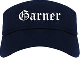 Garner North Carolina NC Old English Mens Visor Cap Hat Navy Blue