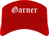 Garner North Carolina NC Old English Mens Visor Cap Hat Red