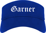 Garner North Carolina NC Old English Mens Visor Cap Hat Royal Blue