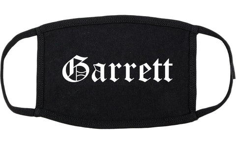 Garrett Indiana IN Old English Cotton Face Mask Black
