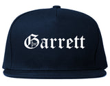 Garrett Indiana IN Old English Mens Snapback Hat Navy Blue