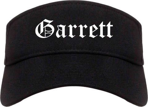 Garrett Indiana IN Old English Mens Visor Cap Hat Black