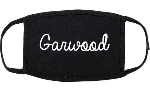 Garwood New Jersey NJ Script Cotton Face Mask Black