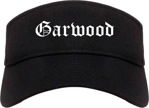 Garwood New Jersey NJ Old English Mens Visor Cap Hat Black