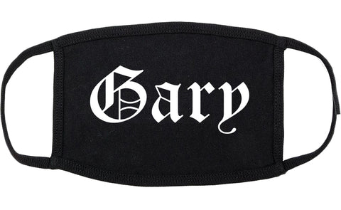 Gary Indiana IN Old English Cotton Face Mask Black