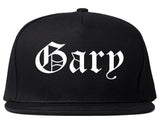 Gary Indiana IN Old English Mens Snapback Hat Black