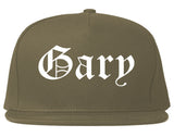 Gary Indiana IN Old English Mens Snapback Hat Grey