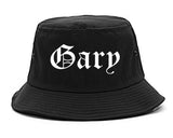 Gary Indiana IN Old English Mens Bucket Hat Black