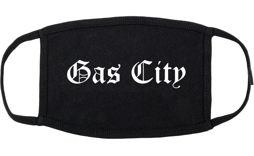 Gas City Indiana IN Old English Cotton Face Mask Black