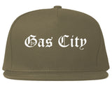 Gas City Indiana IN Old English Mens Snapback Hat Grey