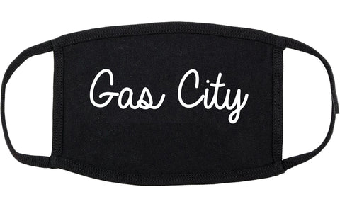 Gas City Indiana IN Script Cotton Face Mask Black