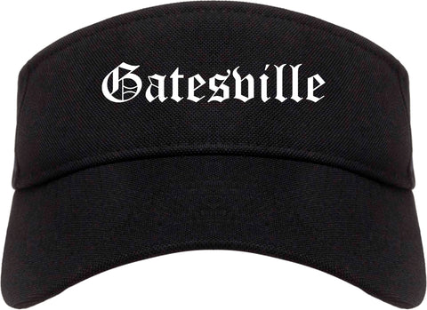 Gatesville Texas TX Old English Mens Visor Cap Hat Black