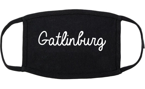 Gatlinburg Tennessee TN Script Cotton Face Mask Black