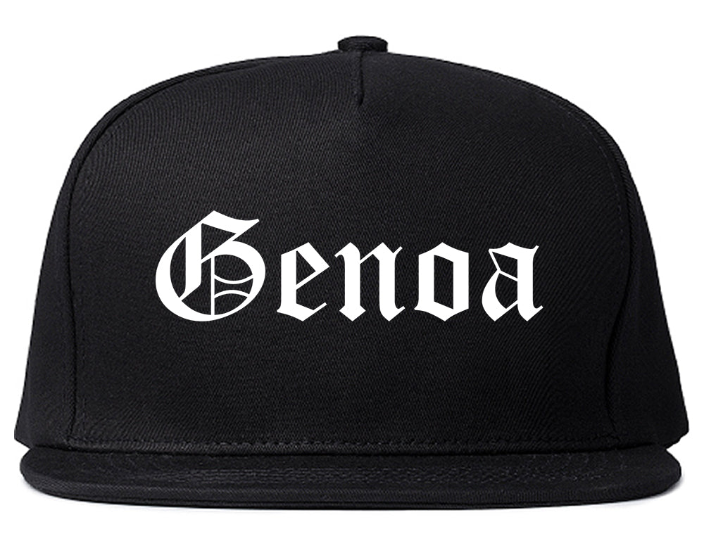 Genoa Illinois IL Old English Mens Snapback Hat Black
