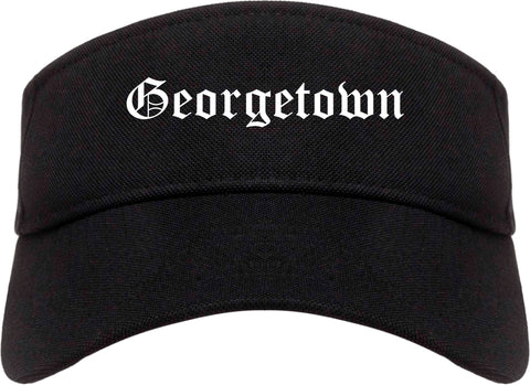 Georgetown Texas TX Old English Mens Visor Cap Hat Black