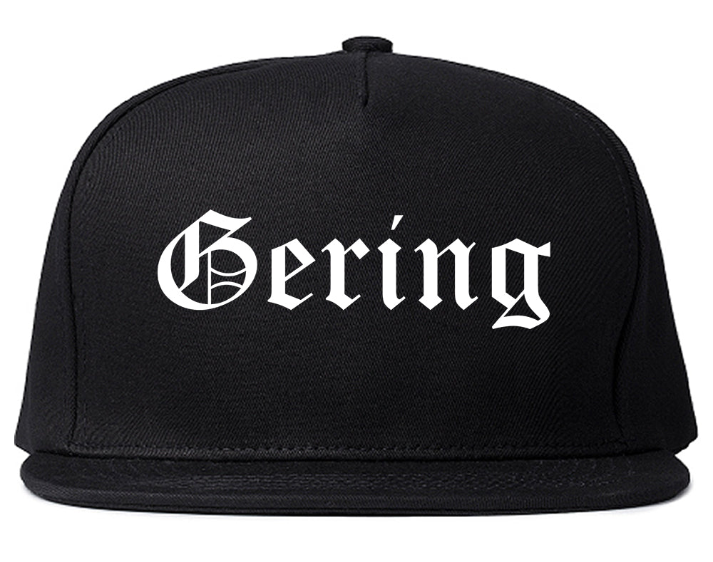 Gering Nebraska NE Old English Mens Snapback Hat Black