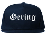 Gering Nebraska NE Old English Mens Snapback Hat Navy Blue