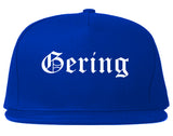 Gering Nebraska NE Old English Mens Snapback Hat Royal Blue