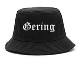 Gering Nebraska NE Old English Mens Bucket Hat Black