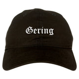 Gering Nebraska NE Old English Mens Dad Hat Baseball Cap Black