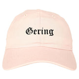 Gering Nebraska NE Old English Mens Dad Hat Baseball Cap Pink
