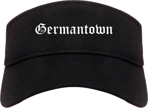 Germantown Tennessee TN Old English Mens Visor Cap Hat Black