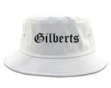 Gilberts Illinois IL Old English Mens Bucket Hat White